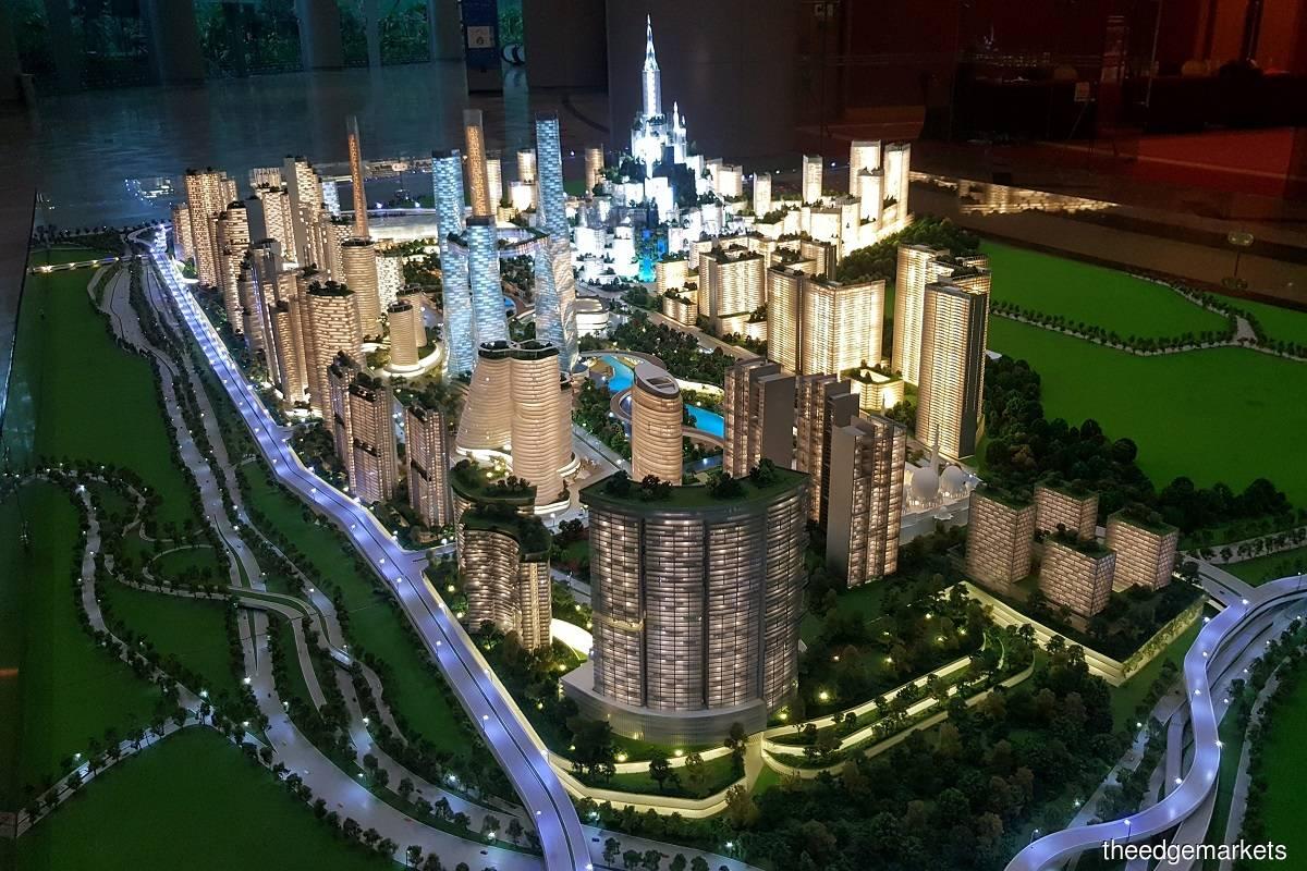 大马城项目的比例模型。(摄影:Suhaimi Yusuf/The Edge)